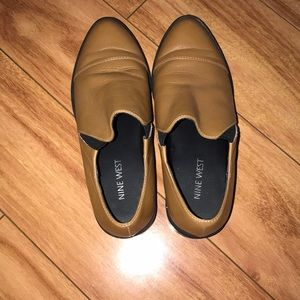 Nine West Tan Loafers